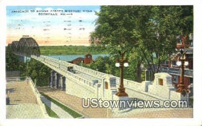 Bridge, Missouri River - Boonville Postcard