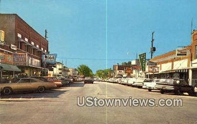 Commercial Street - Branson, Missouri MO Postcard