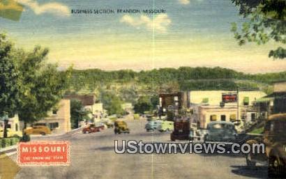 Business Section - Branson, Missouri MO Postcard