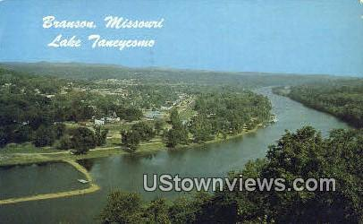 Lake Taneycomo Bridge - Branson, Missouri MO Postcard