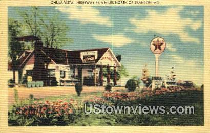 Chula Vista - Branson, Missouri MO Postcard