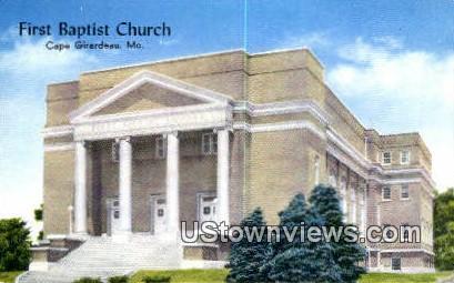 First Baptist Church - Cape Girardeau, Missouri MO Postcard