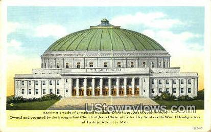 Church of Jesus Christ Latter Day Saints - Independence, Missouri MO Postcard