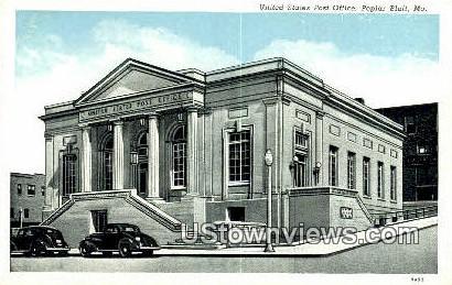 US Post Office - Poplar Bluff, Missouri MO Postcard