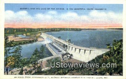 Bagnell Dam - St. Louis, Missouri MO Postcard