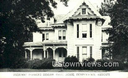 President Truman's Summer White House - Independence, Missouri MO Postcard