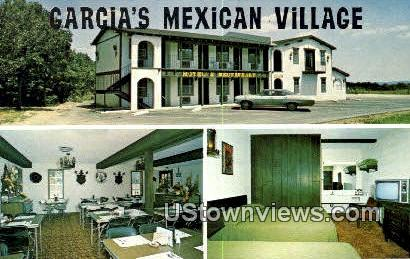 Garcia's Mexican Village - Branson, Missouri MO Postcard