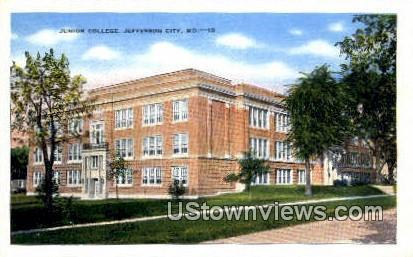 Junior College - Jefferson City, Missouri MO Postcard