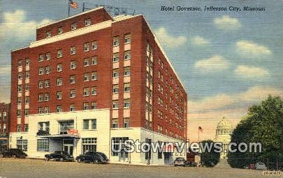 Hotel Governor - Jefferson City, Missouri MO Postcard