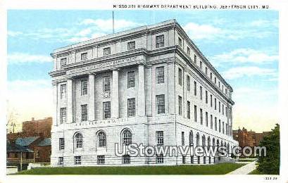 Missouri Highway Department Bldg - Jefferson City Postcard