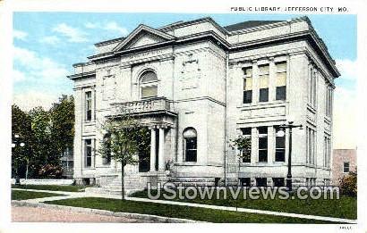Public Library - Jefferson City, Missouri MO Postcard