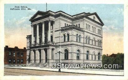 Post Office - Jefferson City, Missouri MO Postcard