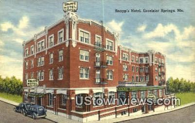 Snapp's Hotel - Excelsior Springs, Missouri MO Postcard