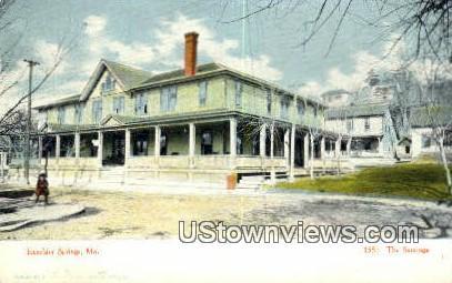The Saratoga - Excelsior Springs, Missouri MO Postcard