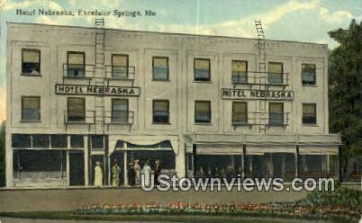 Hotel Nebraska - Excelsior Springs, Missouri MO Postcard