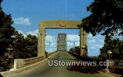 Mississippi River Free Bridge - Cape Girardeau, Missouri MO Postcard