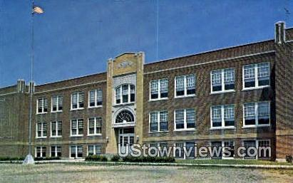 High School, Albany - Missouri MO Postcard