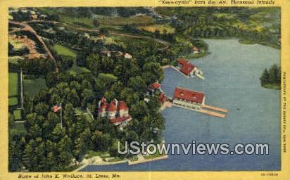 Home of John K. Wallace - St. Louis, Missouri MO Postcard