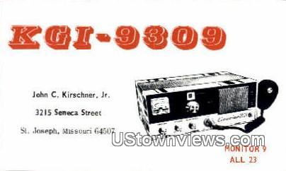 John C. Kirschner Jr. - St. Joseph, Missouri MO Postcard