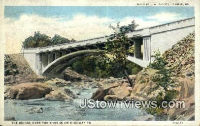 Bridge, Highway 70 - Misc, Missouri MO Postcard