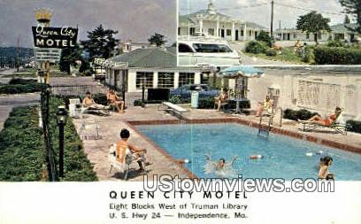 Queen City Motel - Independence, Missouri MO Postcard