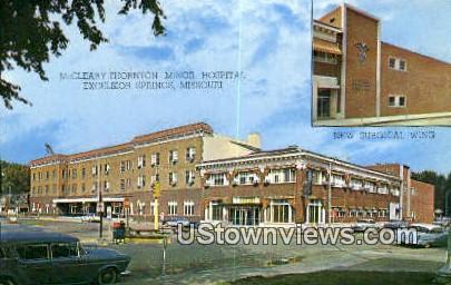 McCleary Thornton Minor Hospital - Excelsior Springs, Missouri MO Postcard