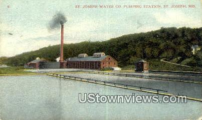 St. Joseph Water Co Pumping Station - Missouri MO Postcard