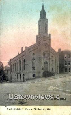 First Christian Church - St. Joseph, Missouri MO Postcard