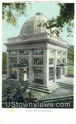 Siloam Spring Pavilion - Excelsior Springs, Missouri MO Postcard