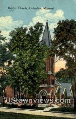 Baptist Church - Columbia, Missouri MO Postcard