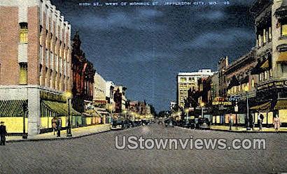 High Street - Jefferson City, Missouri MO Postcard