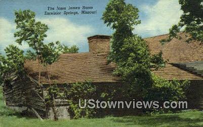Jesse James Home - Excelsior Springs, Missouri MO Postcard