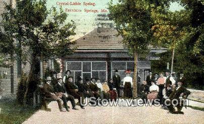 Crystal Lithie Spring - Excelsior Springs, Missouri MO Postcard