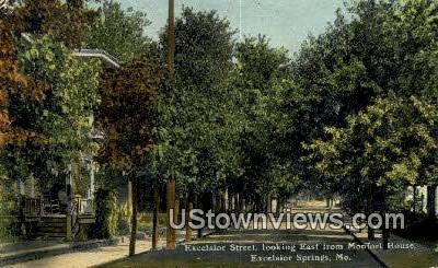 Excelsior Street - Excelsior Springs, Missouri MO Postcard