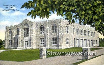 Crowder Hall, University of Missouri - Columbia Postcard