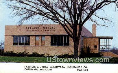 Farmers Mutual Windstorm Insurance Co - Columbia, Missouri MO Postcard