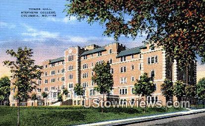 Tower Hall, Stephens College - Columbia, Missouri MO Postcard
