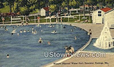 Maurer Mineral Water Pool - Excelsior Springs, Missouri MO Postcard