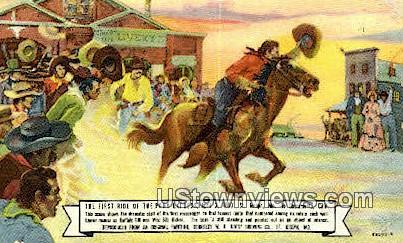 Pony Express - St. Joseph, Missouri MO Postcard