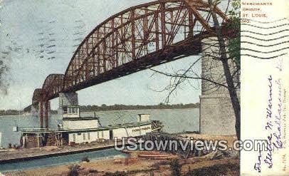 Merchants Bridge - St. Louis, Missouri MO Postcard