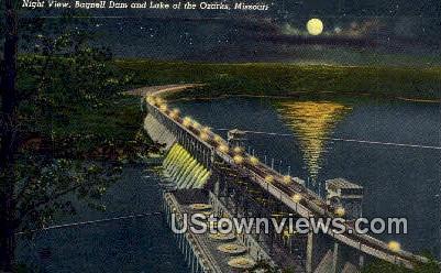 Bagnell Dam - Lake of the Ozarks, Missouri MO Postcard