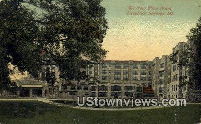 New Elms Hotel - Excelsior Springs, Missouri MO Postcard
