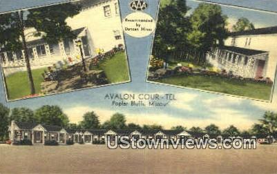 Avalon Cour-Tel - Poplar Bluff, Missouri MO Postcard