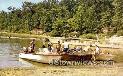 Boating - Lake of the Ozarks, Missouri MO Postcard