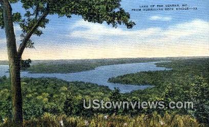 Hurricane Deck Bridge - Lake of the Ozarks, Missouri MO Postcard