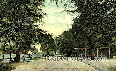 Creve Coeur Lake - St. Louis, Missouri MO Postcard
