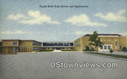 Poplar Bluff High School & Gym - Missouri MO Postcard