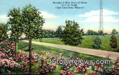 8 Mile Drive of Roses - Cape Girardeau, Missouri MO Postcard