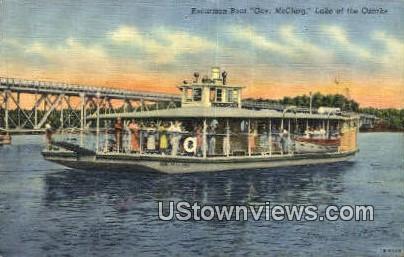 Excursion Boat, Gov. McClurg - Lake of the Ozarks, Missouri MO Postcard