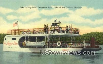 Larry Don, Excursion Boad - Lake of the Ozarks, Missouri MO Postcard